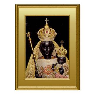 Black Virgin Mary and child Jesus Postcard