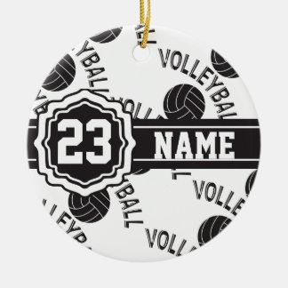 Black Volleyball Ceramic Ornament