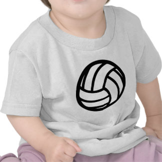 black Volleyball Icon T Shirt