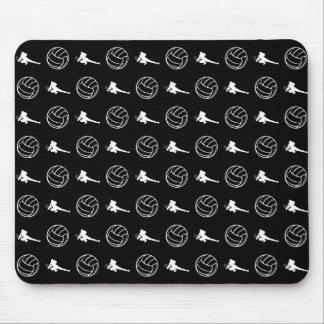 Black Volleyball Pattern Mousepad
