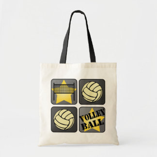 Black Volleyball Tote Bag