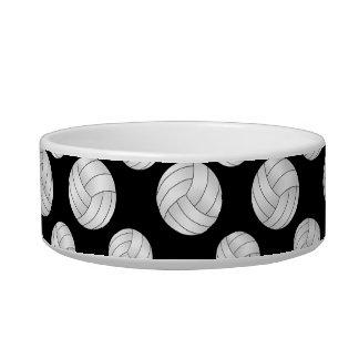 Black volleyballs pattern pet water bowls