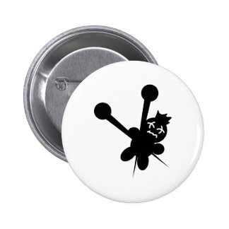 black voodoo doll needles torture button