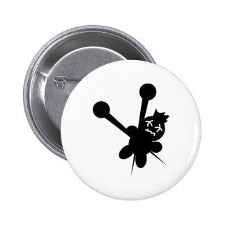 black voodoo doll needles torture 2 inch round button