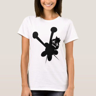 black voodoo doll needles torture T-Shirt