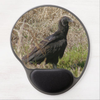 Black Vulture Bird Gel Mousepad