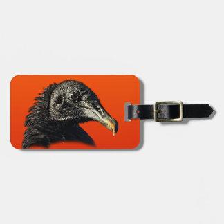 Black Vulture Buzzard Customizable Bag Tag