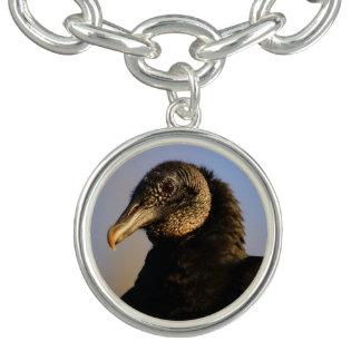 black vulture charm bracelets