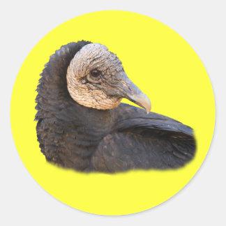 Black Vulture Classic Round Sticker