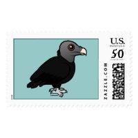 Cute Black Vulture Large Stamp 2.5
