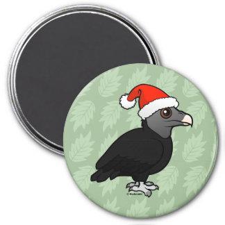 Black Vulture Santa 3 Inch Round Magnet