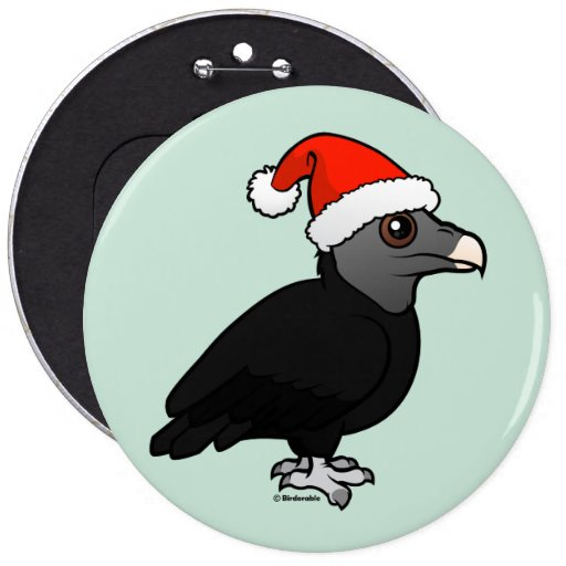 Black Vulture Santa Pins