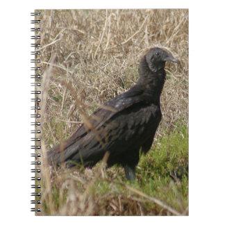 Black Vulture Spiral Photo Notebook