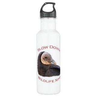 black vulture stainless steel water bottle