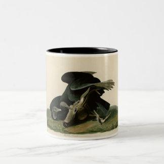 Black Vulture Two-Tone Coffee Mug