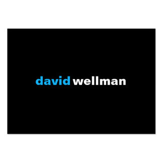 Black (w) large business cards (Pack of 100)