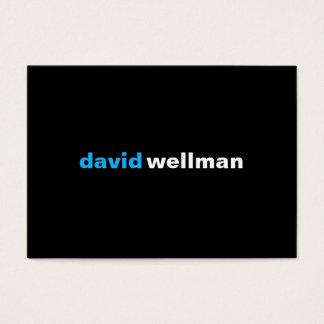 Black (w) business card