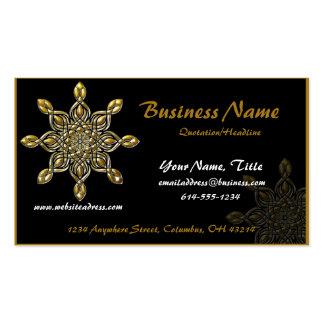 Black w/ Gold Decorative Art Object Business Cards