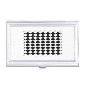 Black w/ White Diamonds Business Card Holder
