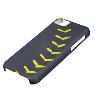 Black w/Yellow Stitches Baseball / Softball iPhone 5C Cover