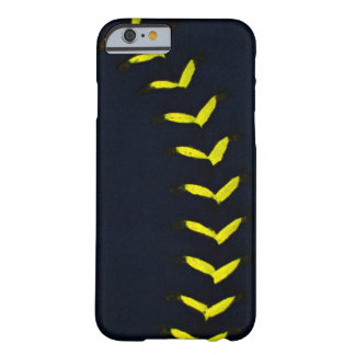 Black w/Yellow Stitches Baseball / Softball Barely There iPhone 6 Case