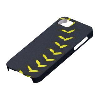 Black w/Yellow Stitches Baseball / Softball iPhone 5 Cases