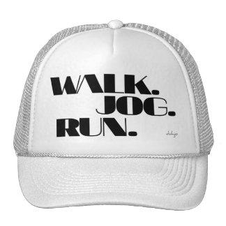 BLACK WALK JOG RUN (font CHUNKY) Trucker Hat