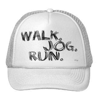 BLACK WALK JOG RUN (font SCRIBBLE) Trucker Hat