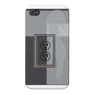 Black wall socket phone thingy! iPhone 4/4S cover