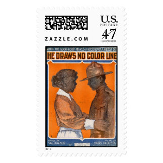 Black War Hero, WWI Postage Stamp