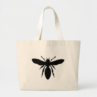 Black Wasp Silhouette Tote Bag