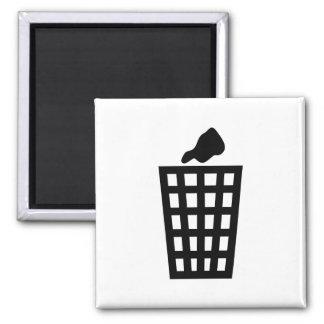 Black Waste Bin 2 Inch Square Magnet