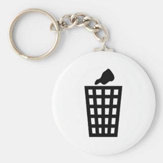 Black Waste Bin Keychain