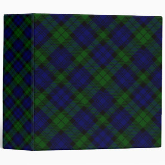 Black Watch clan tartan blue green plaid 3 Ring Binder