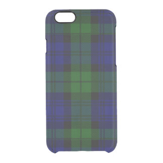 Black Watch clan tartan blue green plaid Clear iPhone 6/6S Case