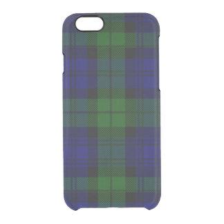 Black Watch clan tartan blue green plaid Clear iPhone 6/6S Case