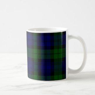 Black Watch clan tartan blue green plaid Coffee Mug