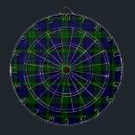 "Black Watch clan tartan blue green plaid Dart Board<br><div class=""desc"">Black Watch clan tartan plaid</div>"