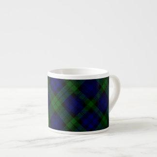 Black Watch clan tartan blue green plaid Espresso Cup