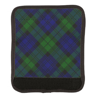 Black Watch clan tartan blue green plaid Luggage Handle Wrap