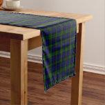 Black Watch clan tartan blue green plaid Short Table Runner