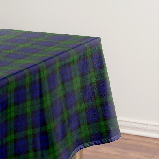Black Watch Clan Tartan Blue Green Plaid Tablecloth Zazzle Com
