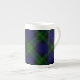 Black Watch clan tartan blue green plaid Tea Cup