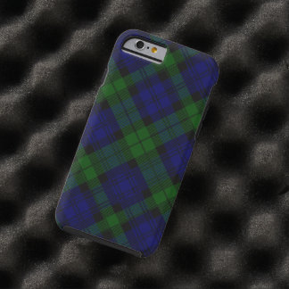 Black Watch clan tartan blue green plaid Tough iPhone 6 Case