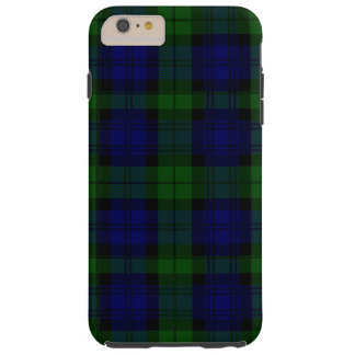 Black Watch clan tartan blue green plaid Tough iPhone 6 Plus Case