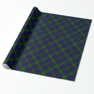 Black Watch clan tartan blue green plaid Wrapping Paper