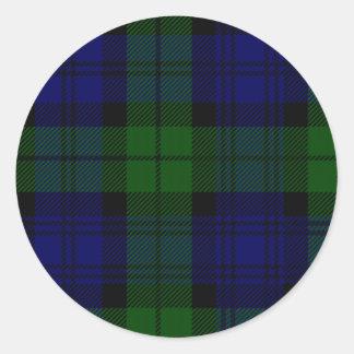 Black Watch Classic Round Sticker