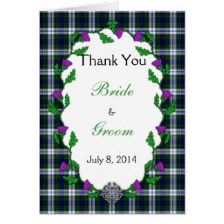 Black Watch Fashion Celtic Wedding Thank You Card