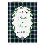 Black Watch Fashion Celtic Wedding Thank You Cards