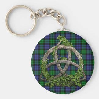 Black Watch Military Celtic Trinity Knot Basic Round Button Keychain